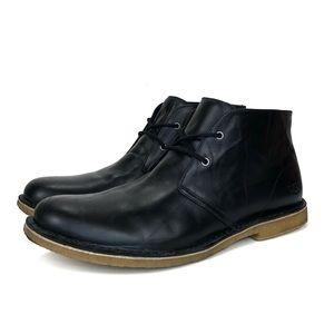 Ugg Chukka Boot Black Leather Size 13